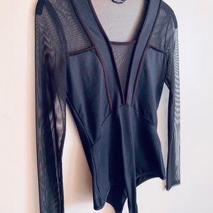 Bebe Black Bodysuit